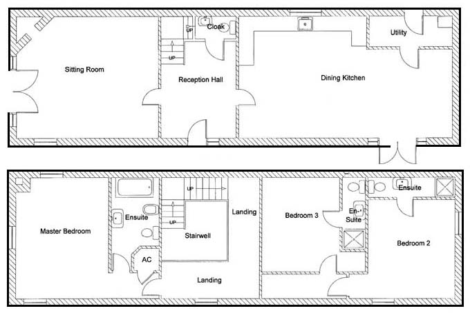 Westhayes Cottage floorplan