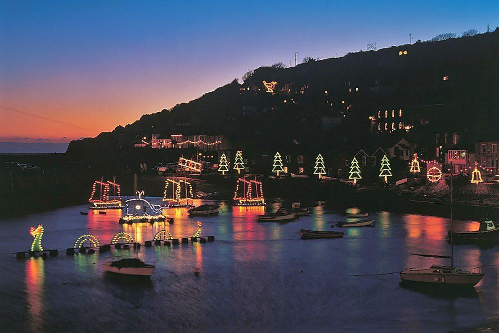 Cornish Christmas Lights at Mousehole
