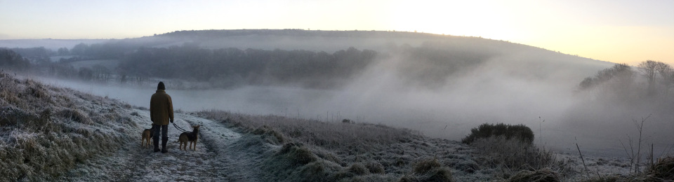 winter morning at helsbury